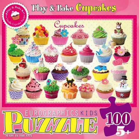 Eurographics Puzzle 100 Pc- Cupcakes