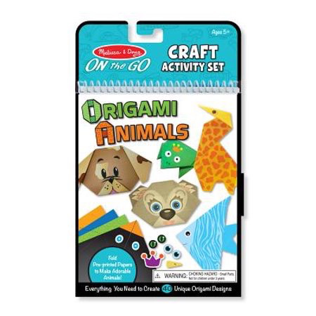 Melissa & Doug On the Go Origami Animals Craft Activity Set - 38 Stickers, 40 Origami Papers