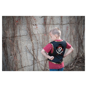 Great Pretenders Pirate Vest with Eye Patch Size 5-6