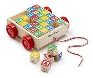 Melissa & Doug ABC Block Cart