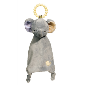 Gray Elephant Lil' Sshlumpie Teether Blankie