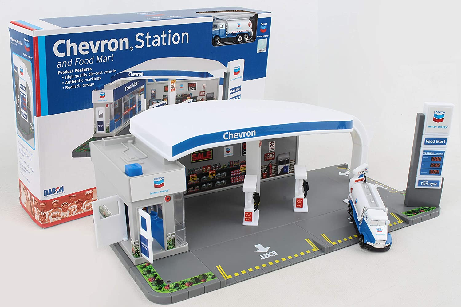 Daron Chevron Gas Station Playset