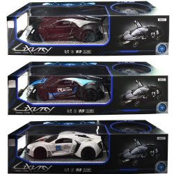 Luxury Model R/C Car with Steering Wheel 3 Asst Colors