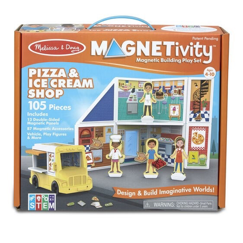 Melissa & Doug Magnetivity Magnetic Building Play Set- Pizza & Ice Cream