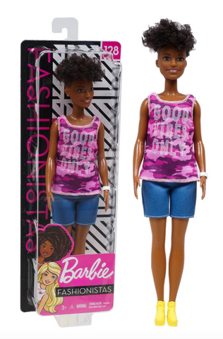Fashionistas Barbie Doll #128 [Good Vibes Only Shirt]