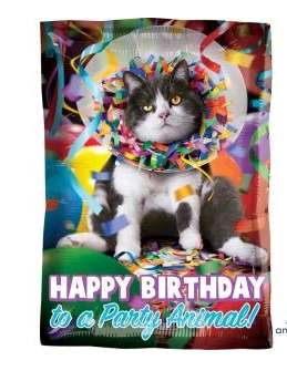 "Happy Birthday Party Animal 17"" Foil Balloon"