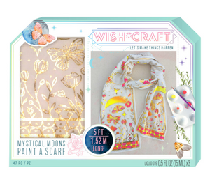 Wish*Craft Mystical Moons Paint a Scarf