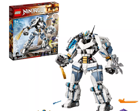 LEGO NINJAGO Legacy Zane's Titan Mech Battle; Ninja Toy Kit Includes Collectible Minifigures 71738