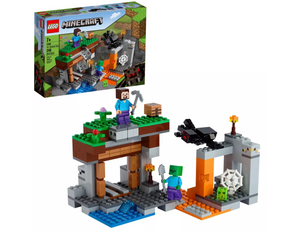 LEGO Minecraft The Abandoned Mine; Zombie Cave Playset with Minecraft Action Figures 21166