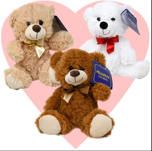 "10"" sitting Plush Bear Assorted"