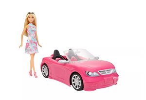 Barbie Glam Doll with Pink Convertible