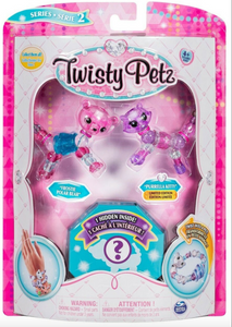 Twisty Petz Series 2 Frostie Polar Bear, Purrella Kitty & Surprise 3-Pack