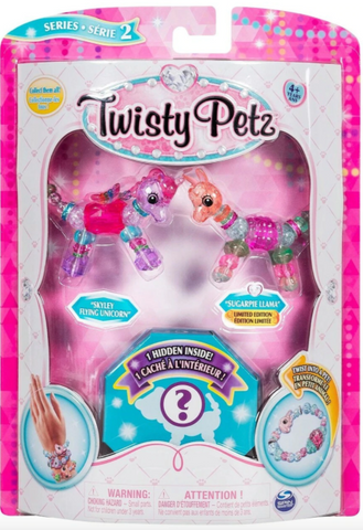 Twisty Petz Series 2 Skylet Flying Unicorn, Sugarpie Llama & Surprise 3-Pack
