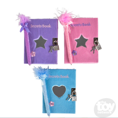 Plush Covered Secret Diary Set-ONE PER ORDER