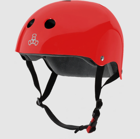 TRIPLE8 CERTIFIED SWEATSAVER HELMET- RED GLOSSY S/M