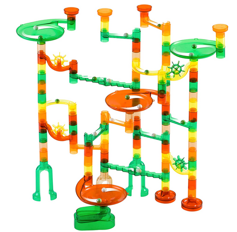 Marble Genius Marble Run Dinosaur Starter Set - 130 Complete Pieces