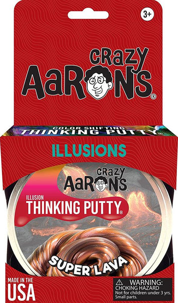 Crazy Aaron Illusions Thinking Putty: Super Lava
