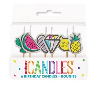 Unique Candles 6 candles Favorite Things