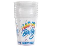 Unique White Happy Birthday cups