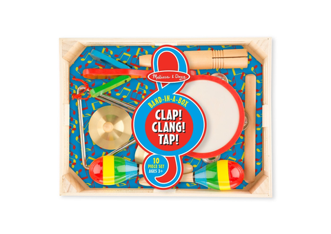 Melissa & Doug Band-in-a-Box - Clap! Clang! Tap! (Ages 3-6 Years)