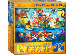 Eurographics Puzzle 35 Pc- Three Little Pigs