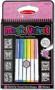 Melissa & Doug Butterfly Magic Velvet Coloring Activity Book
