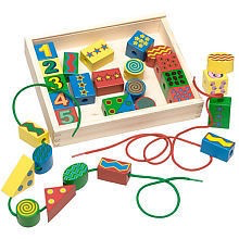 Melissa & Doug Lacing Beads In A Box Craft Set