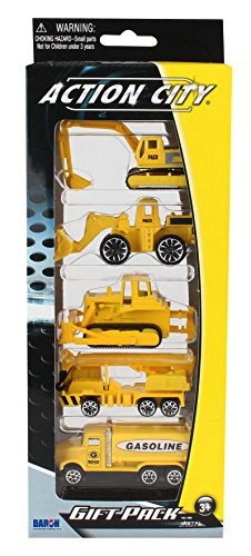 Daron Action City 5 Piece Construction Vehicle Gift Pack