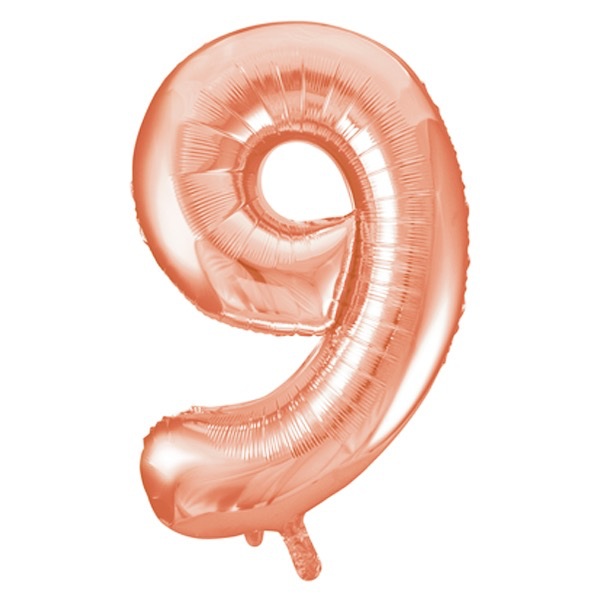 Unique Party 34 Inch Rose Gold Glitz Number Balloon -9