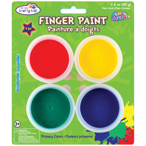 Finger Paint Tubs .7oz 4/Pkg