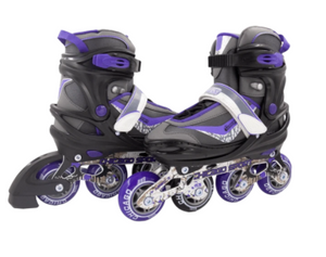 Chicago Adjustable inline Skates Purple- Medium Size (1-4)