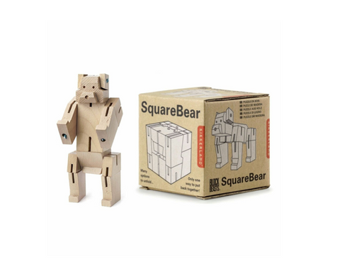 Kikkerland Square Bear Toy