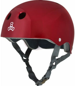 Triple Eight Glossy Sweatsaver Multi- Impact Helmet - Red - Small