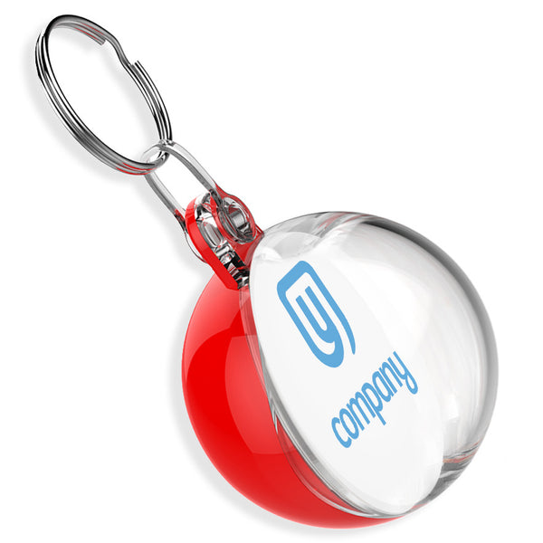 Custom Bauble Keyrings | 38mm x 38mm