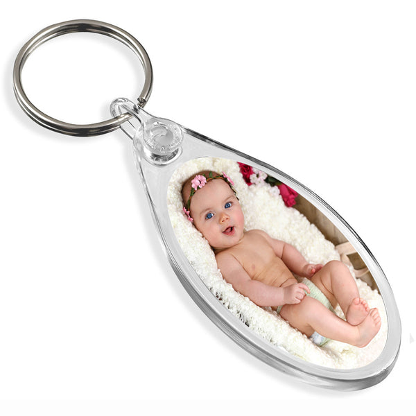 Personalised Oval Keyring | 50mm x 25mm