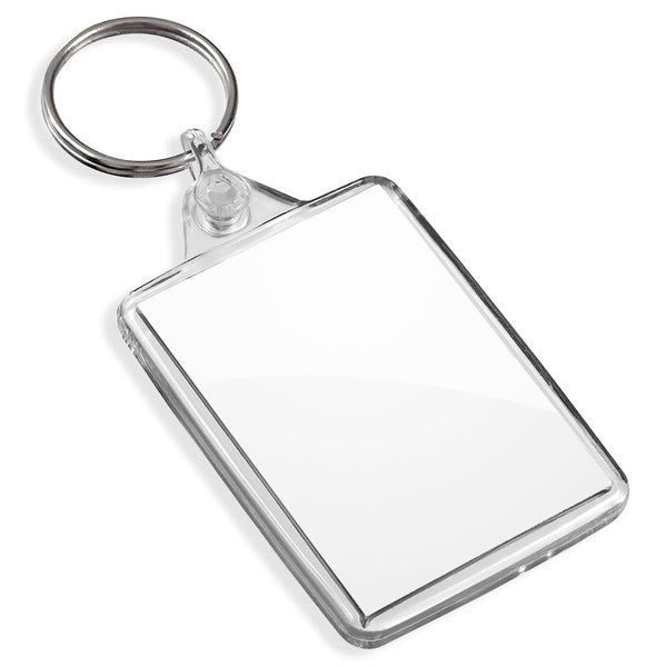 Blank Medium Keyrings | 50mm x 35mm