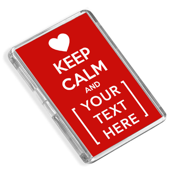 Personalised Fridge Magnet | Keep Calm Heart