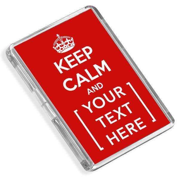 Personalised Fridge Magnet | Keep Calm