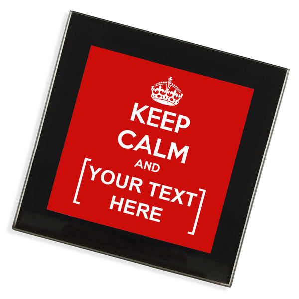Personalised Glass Coaster | Keep Calm