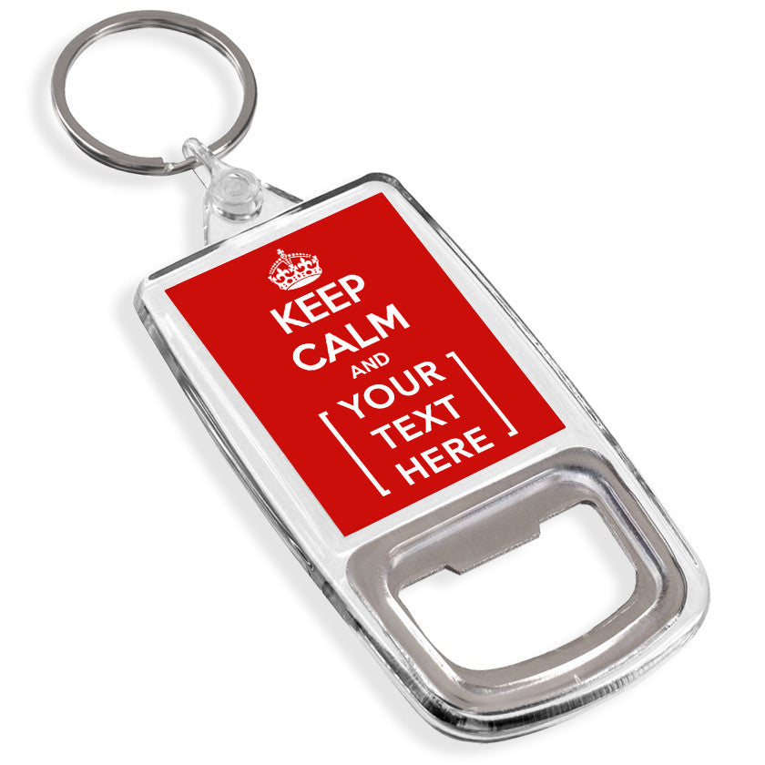 Personalised Bottle Opener Keyring | Keep Calm