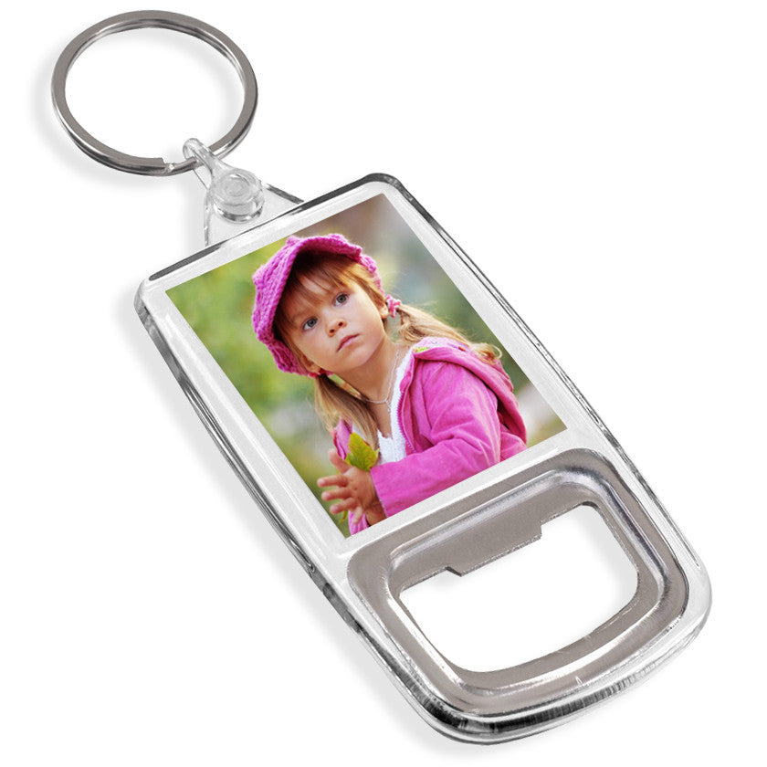 Personalised Bottle Opener Keyring | 45mm x 35mm