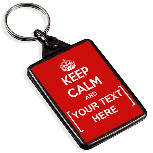 Personalised Graphite Keyring | Keep Calm