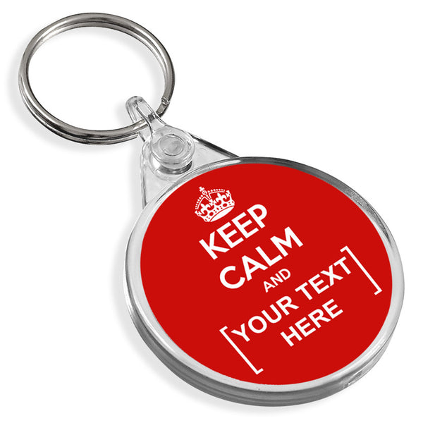 Personalised Round Keyring | Keep Calm