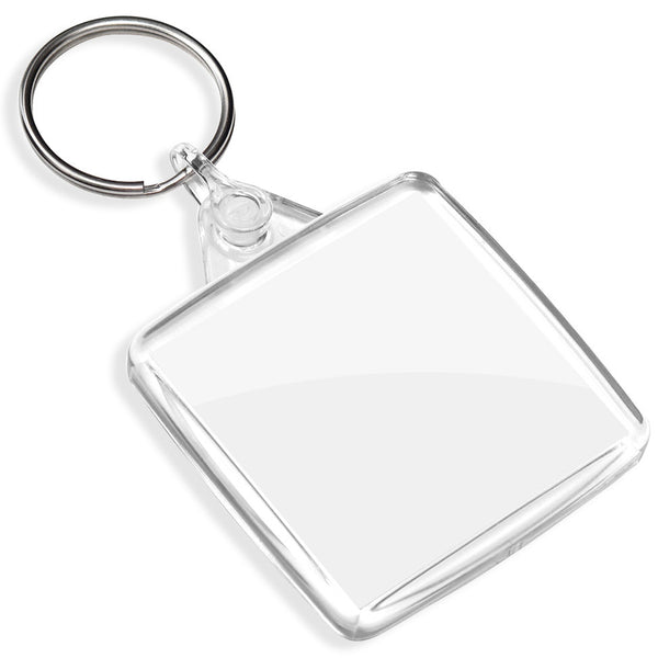 Blank Square Keyrings | 38mm x 38mm