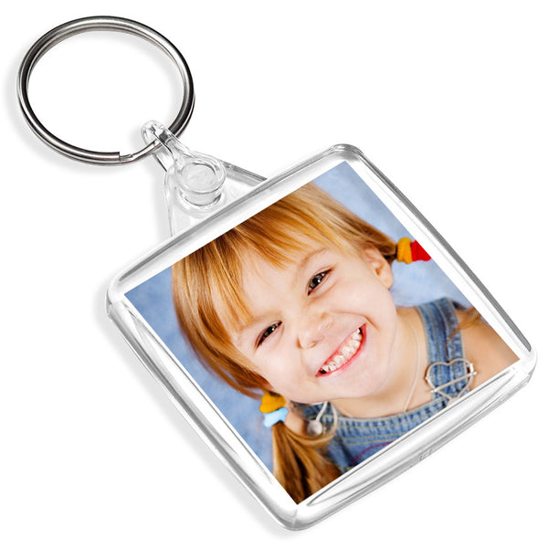 Personalised Square Keyring | 38mm x 38mm
