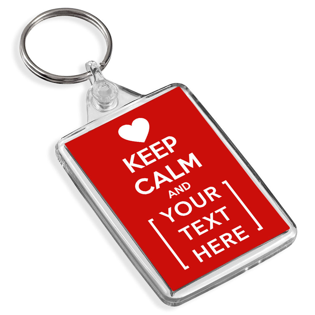 Personalised Keyring | Keep Calm Heart