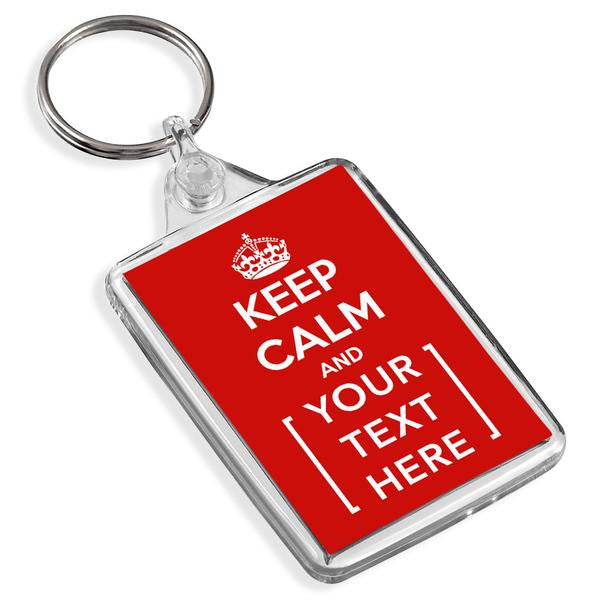 Personalised Keyring | Keep Calm