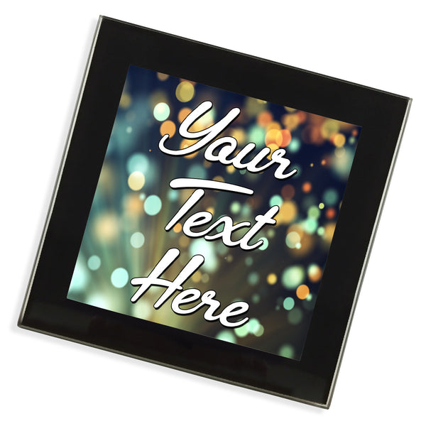 Personalised Glass Coaster | Sparkles