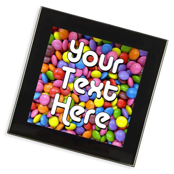 Personalised Glass Coaster | Smarties