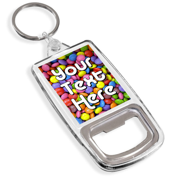 Personalised Bottle Opener Keyring | Smarties